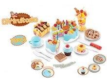 75 pièces jouets de cuisine pour enfants gâteau danniversaire jouets pour faire semblant de jouer en plastique jouets de cuisine gâteau jeux enfants fille Cocina Juguete
