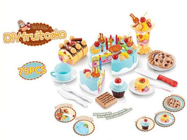75 Stucke Kinder Kuche Spielzeug Geburtstag Kuchen Cut Spielzeug