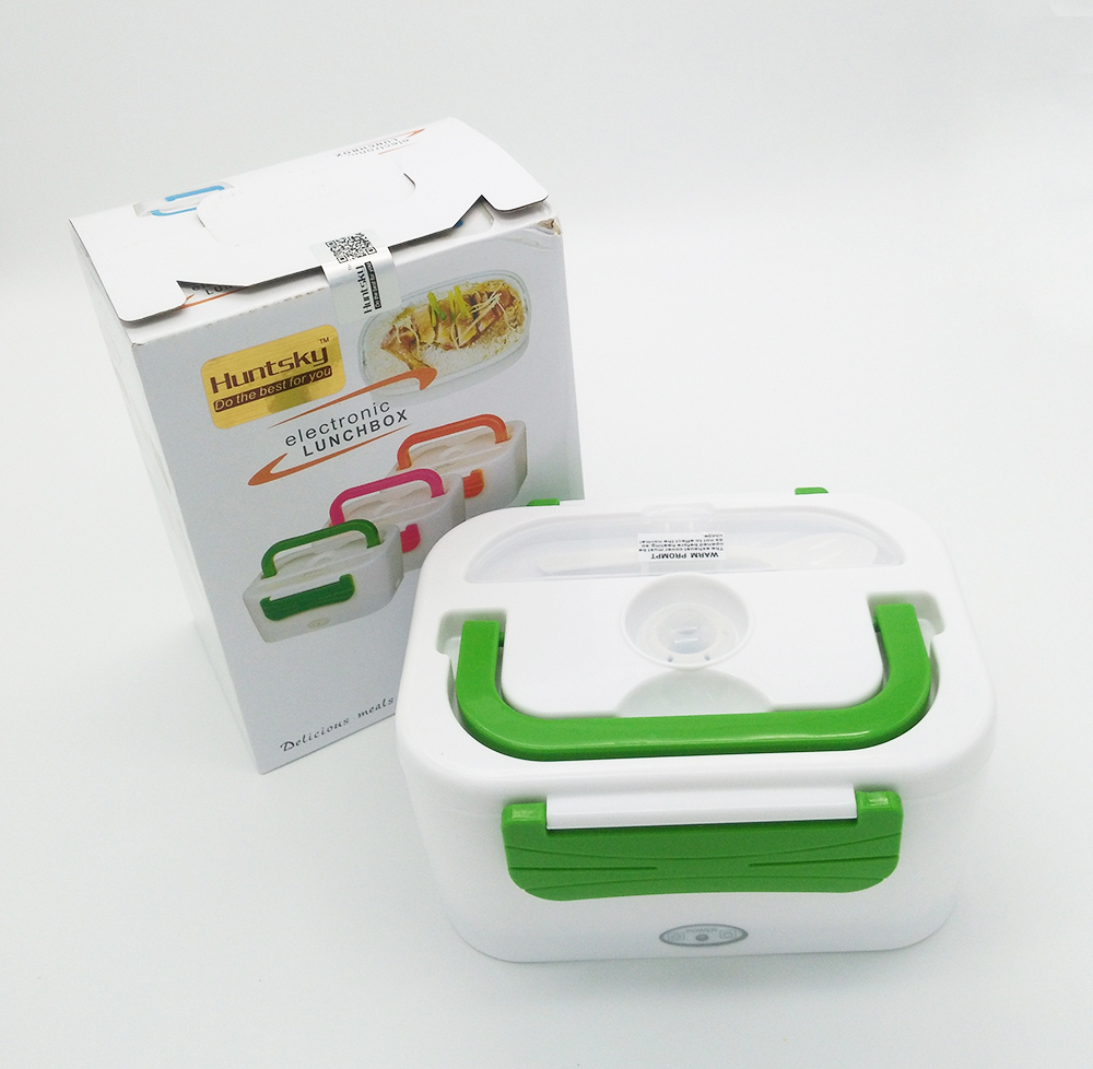 220V/110V/12V Portable Car Plug Heated Lunch Box Compact Electric Heated Lunch Food Warmer Box Bento Food Container 1050ML animal food fruit picks forks lunch box accessory decor