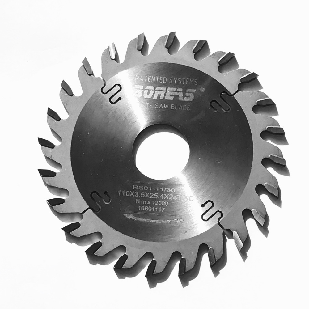 Free shipping thick kerf 110*3.5mm*24Z TCT TP teeth profile saw blade for scoring hard wood/Aluminum plate/soft metal profile