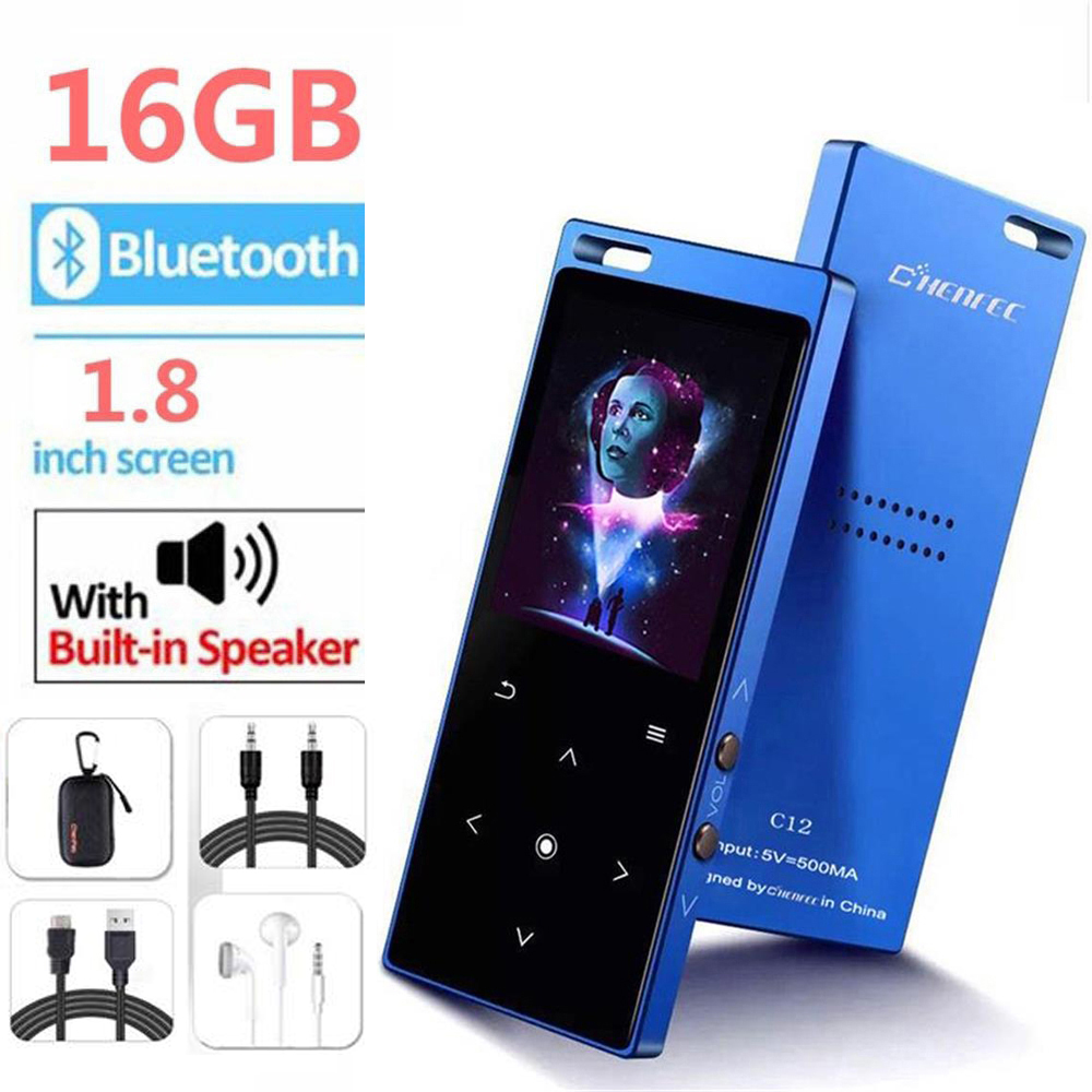 MP3 Player Bluetooth4.2 Lossless Sound 1.8 Inch Screen Metal Body Music Player With FM, Recorder, Support SD Card Up To 128GB