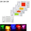 Синий зеленый красный светодиод dob COB Чип 50 Вт 30 Вт 20 Вт AC 220 В без необходимости драйвер умная лампочка с ИС лампа для DIY светодиодный прожектор сад - фото