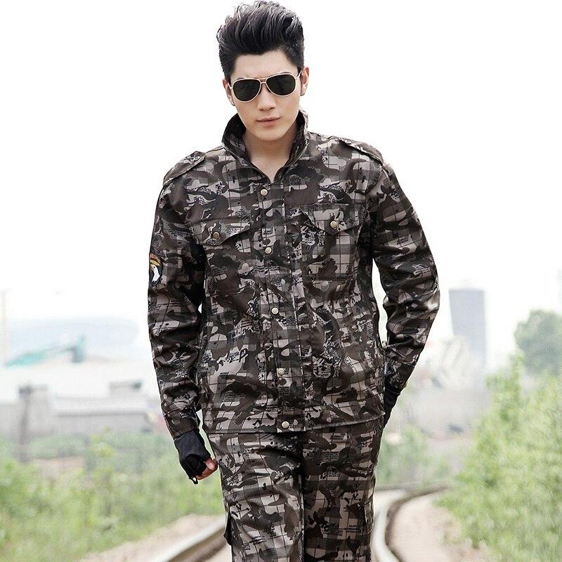 (10 Set-top & Mutanda) Respirabile Comodo Maschio Speciale Di Combattimento Uniformi Di Cotone Poliestere Camouflage Militare Gli Appassionati Di Arrampicata