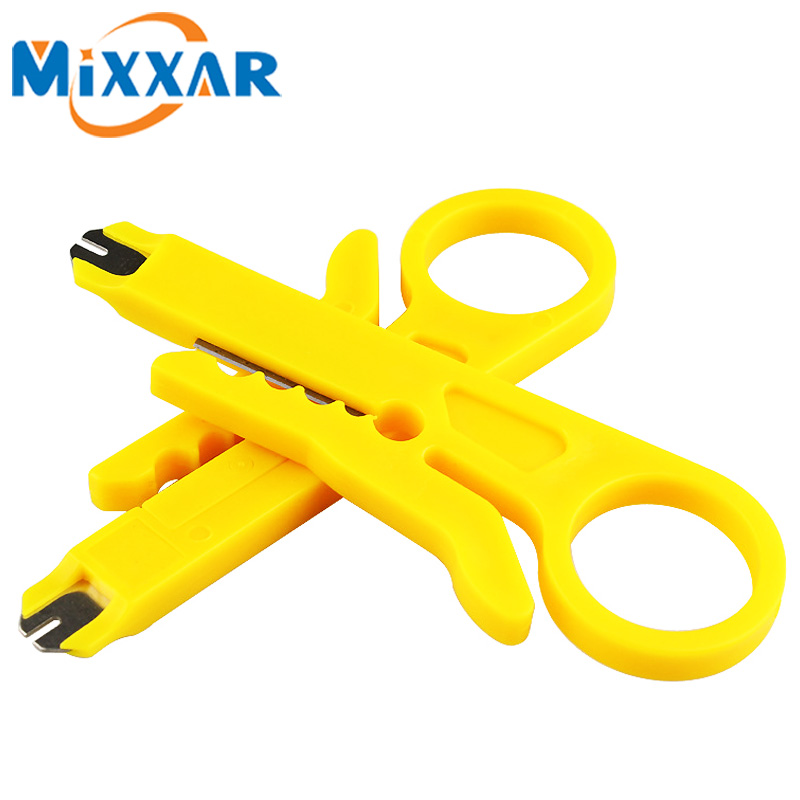 ZK20 Portable 2pcs/lot Mini Wire Stripper Knife Network Cable Crimping Pliers Hand Tool Stripping Wire Cutter Multi Tools 2pcs lot digital network multi meter