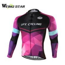 Weimostar Men's Cycling Jersey Long Sleeve Bike Clothing