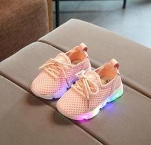 2017 new vogue kids's sneakers LED gentle gentle kids's gentle breathable informal sneakers
