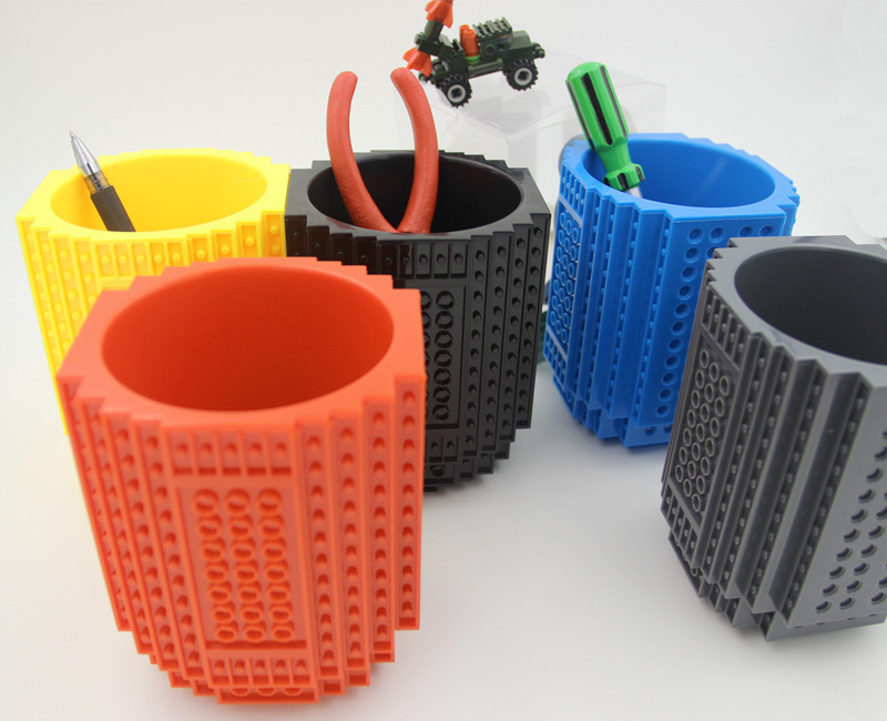 New LEGO Bulid on Brick Desk Tidy,Pencil Holder With Strong ...