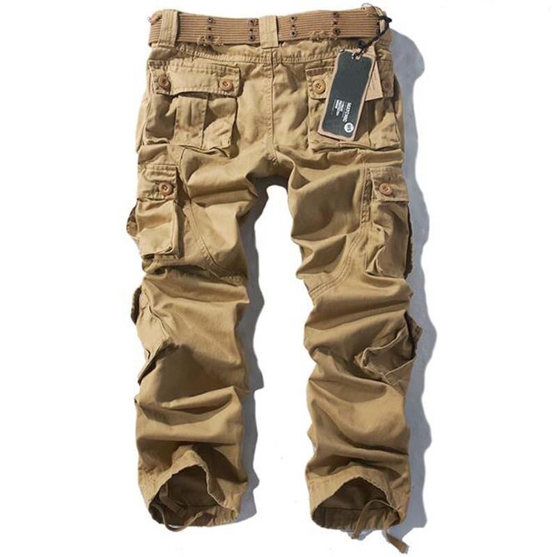 Grande taille Baggy Cargo pantalon pour hommes et femmes printemps hiver pantalon à jambes larges hommes Joggers pantalon militaire Camouflage vêtements - 6