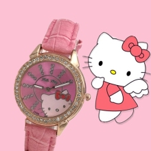 Hello kitty cute childrens watch KT cat student Kitty Korean cartoon Watch