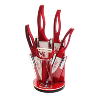 New Arrival Red Handle Kitchen Knives 3 4 5 6 Inch A Peeler A Red Knife