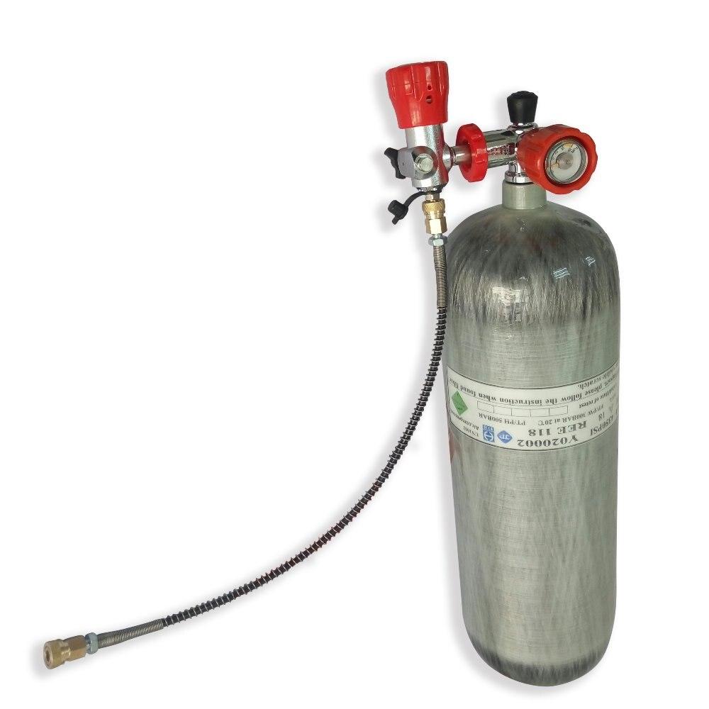 AC268101 Novo 6.8L DOT M18 * 1.5 da Linha De Fibra De Carbono Cilindro de Gás De Ar Pcp Arma Tanque de Paintball Airsoft Armas de Ar Comprimido condor Pcp Acecare
