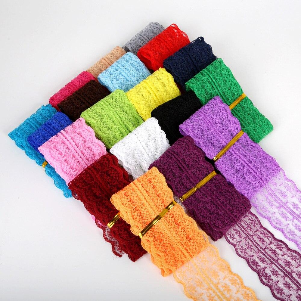 5 ярдов/партия кружевная лента 20 мм DIY кружевная тесьма отделка для свадьбы для упаковки подарков DIY Швейные аксессуары для юбки