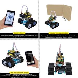 Image 3 - Keyestudio DIY Mini Tank Smart Robot car kit для Arduino Robot eduation Программирование + руководство + PDF (онлайн) + 5 проектов