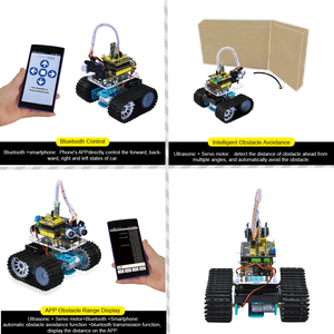 Image 3 - Keyestudio DIY מיני טנק חכם רובוט רכב ערכת לarduino רובוט חינוך תכנות + ידני + PDF (באינטרנט) + 5 פרויקטים