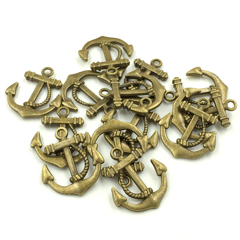 charms bronze ancre
