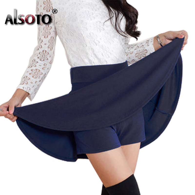 ALSOTO Gaya musim panas Skirt seksi untuk Girl Korea Skirts Wanita Faldas Anti dikosongkan saia lady Skater pleated mini Skirt tutu