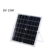6V 15W 2.5A MonocrystallineMono solar panel with support for photovoltaic panels mobile phone charging treasure suburbs