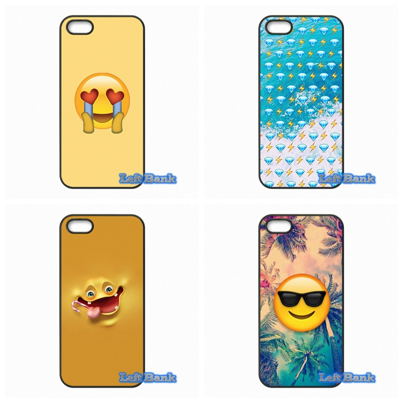 For Apple iPhone 4 4S 5 5S 5C SE 6 6S 7 Plus 4.7 5.5 iPod Touch 4 5 6 cute emojis Case Cover