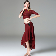 Classical Belly Dance Suits For Ladies Burgundy Color Good Quality Suit Fitness Women Feminine Ballroom Vintage Costumes W1200