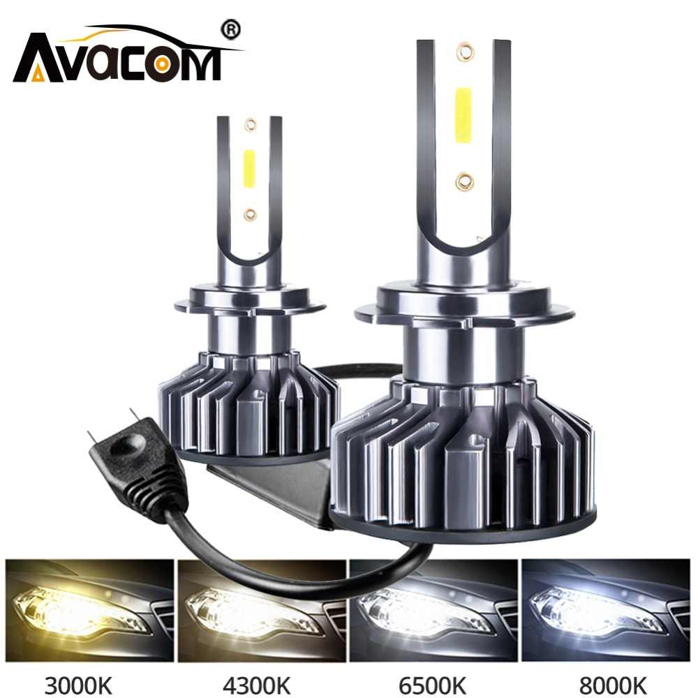 2Pcs Car Headlight H7 LED H4 LED H1 H11 9006 9005 3000K 4300K 72W 10000LM 6500K 8000K 12V 24V Auto Headlamp DOB Fog Light Bulb