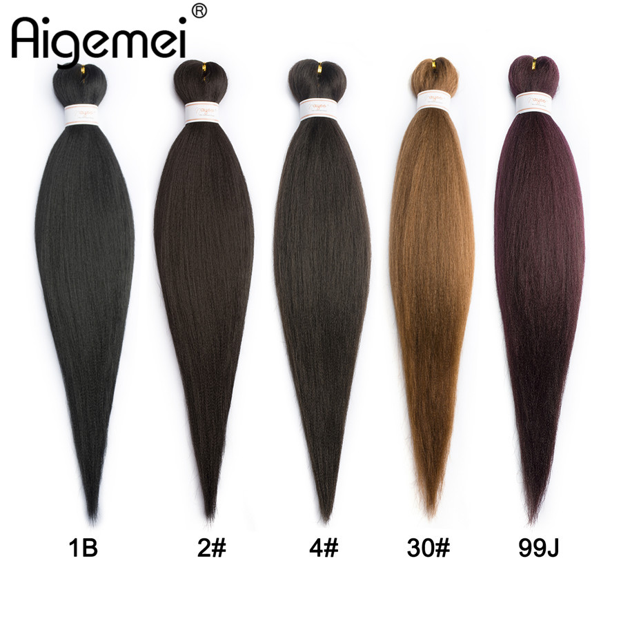Dynamic Aigemei Jumbo Braids Crochet Hair 85/pack Kanekalon Fiber Synthetic Braiding Hair For Women 1b 2# 4# 30# 99j 22 Inch Discounts Sale Hair Extensions & Wigs Hair Braids