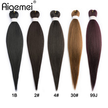 все цены на Aigemei Jumbo Braids Crochet Hair 85g/Piece High Temperature Fiber Synthetic Braiding Hair EZ Braiding Hair 22 Inches 5 Colors онлайн
