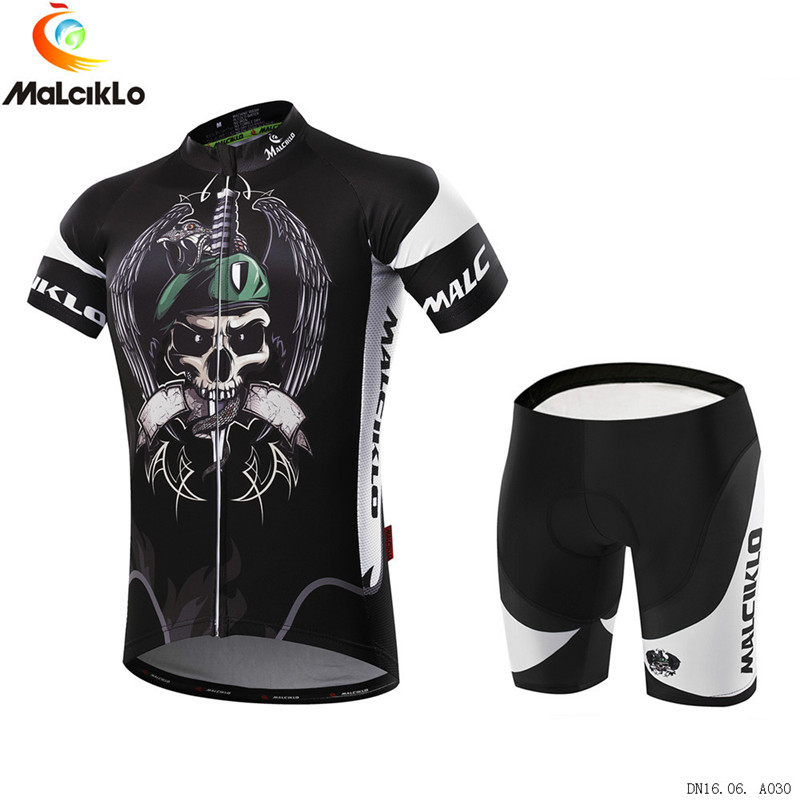 High Quality Men's Summer Cycling Jersey Set Skull Funny Road Bike Clothes Maillot Roupa Ciclismo Quick-Dry Bicycle Clothing