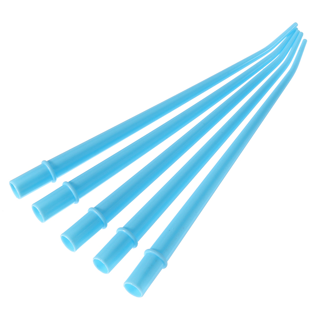 """25pcs Plastic Curved Tips Surgical Aspirator Dental Saliva Ejector Tips Disposable Autoclavable Suction Tube 1/4"""" 1/8'' 1/16''"""
