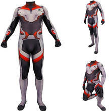 Adult Kids Quantum Battle Suit Zentai Superhero Costume Bodysuit Suit Jumpsuits Quantum Suit Cosplay Halloween BOOCRE