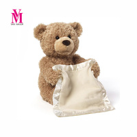 Peek A Boo Teddy Bear Play Hide And Seek Lovely Cartoon Stuffed Teddy Bear Kids Birthday