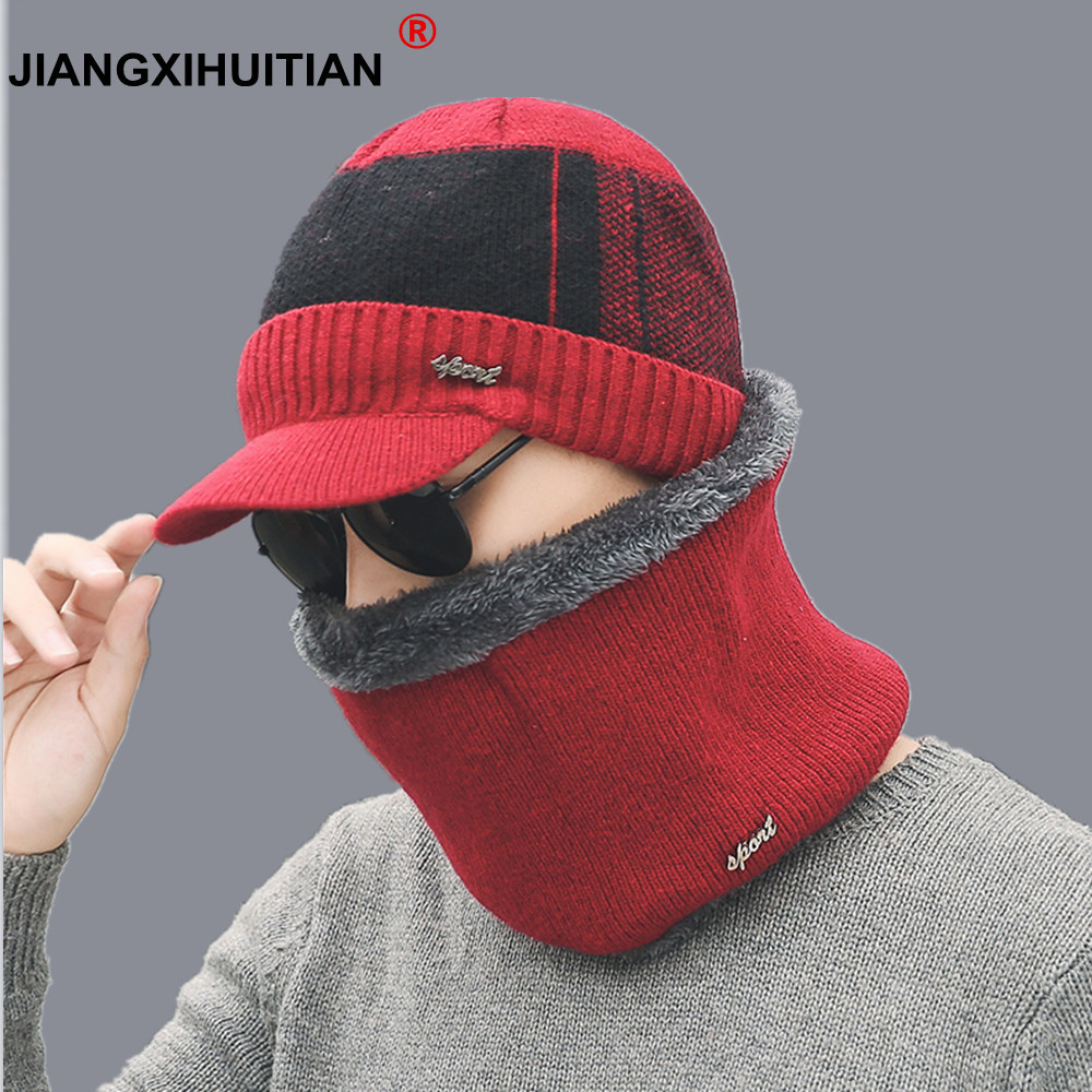 Winter Hat Skullies Beanies Hats Winter Beanies For Men Women Wool Scarf Caps Balaclava Mask Gorras Bonnet Knitted Hat