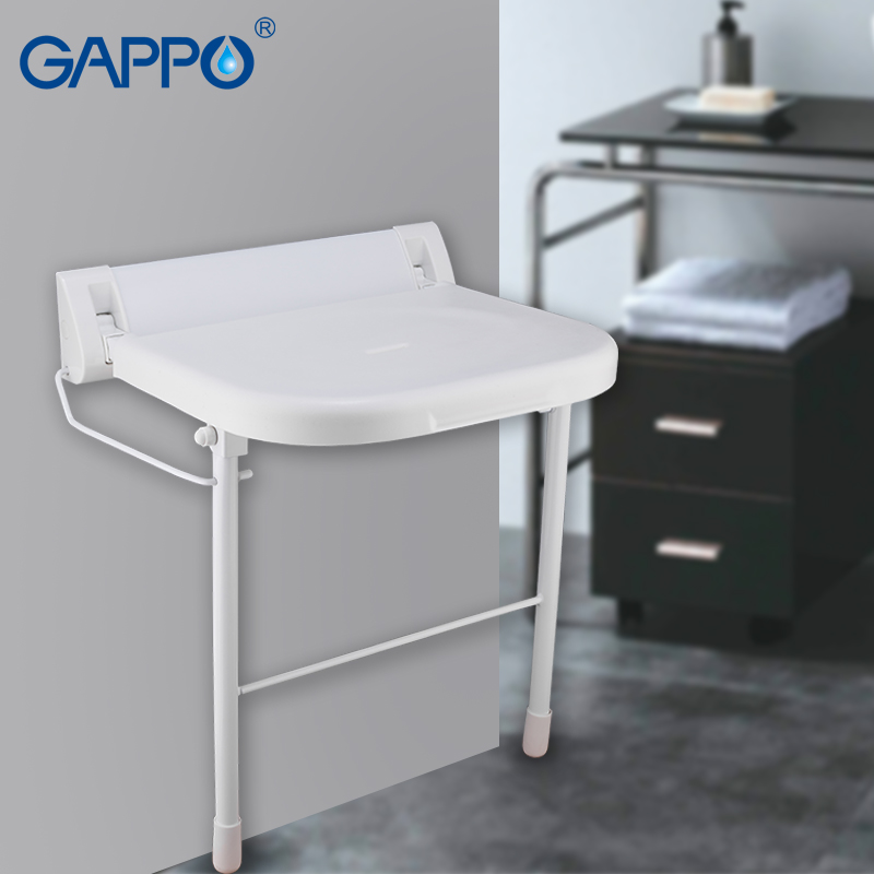 Astonishing Us 80 94 54 Off Gappo Wall Mounted Shower Seats Bathroom Folding Chair Shower Folding Seats Bath Folding Bench Shower Stool Toilet In Wall Mounted Andrewgaddart Wooden Chair Designs For Living Room Andrewgaddartcom