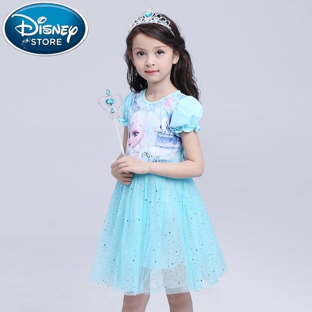 5efc2e5c70395e Disney Frozen Leuke Meisjes Met Lange Mouwen Plaid jurk Voor Baby Meisje  Kleding moana Kinderen Hooded