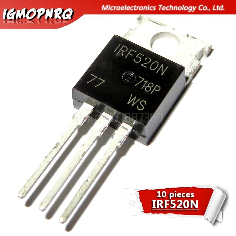 10 stücke IRF520 IRF520N IRF520NPBF N-kanal ZU-220 100V neue original