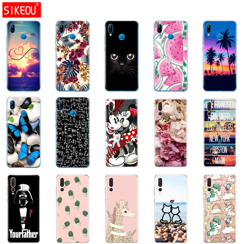 case for huawei P20 LITE case cover for huawei p20 pro case back cover silicon 360 full protective P 20 Lit Coque etui clear cat