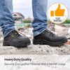 Fashion Black Men Style Work Boots Safety Shoes Extra Wide Steel Toe Anti-static Breathable Water Resistant Cow Leather 5