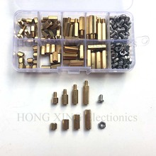 160pcs/set Brass standoff M4*6/10/15/20 4mm Nuts M4*6 Screws Spacer Female To Male-Male Assortment Kit