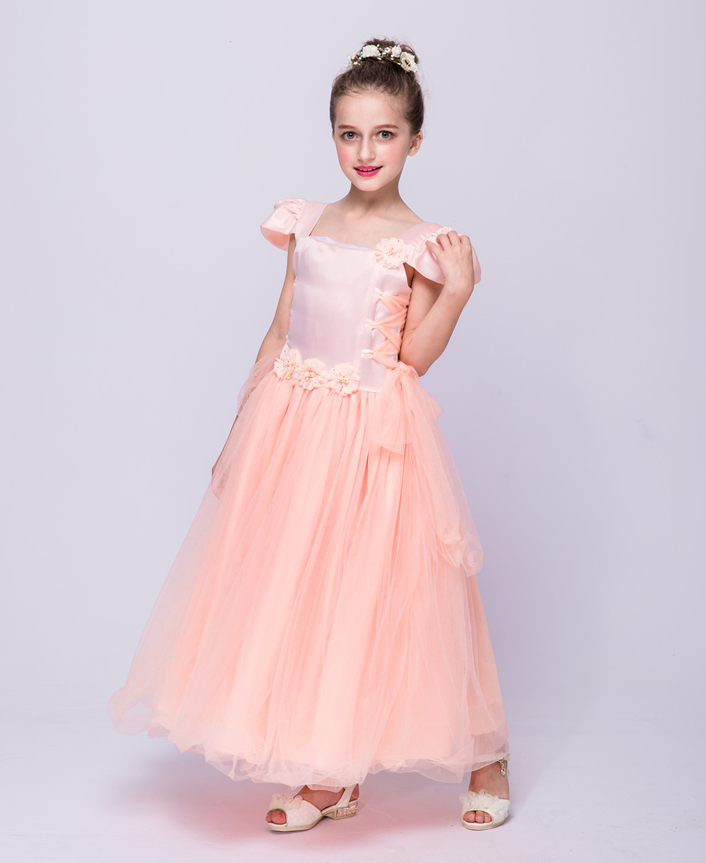 aae4a3668f Fashion flowers girls dresses for wedding party 4 6 8 10 12 year old ...