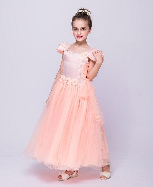 Moda flores niñas vestidos para la fiesta de boda 4 6 8 10 12 años de
