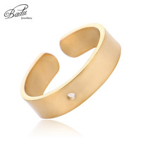 Badu DIY Golden Zinc Alloy Ring Wide Open Cuff Simple Rings Wholesale Jewelry Cocktail Ring Gift