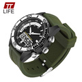 TTLIFE Military Mens Outdoor Sport Wrist Watch Luxury Brand Analog Dual Display Watch LED Digital Waterproof Watches For Men