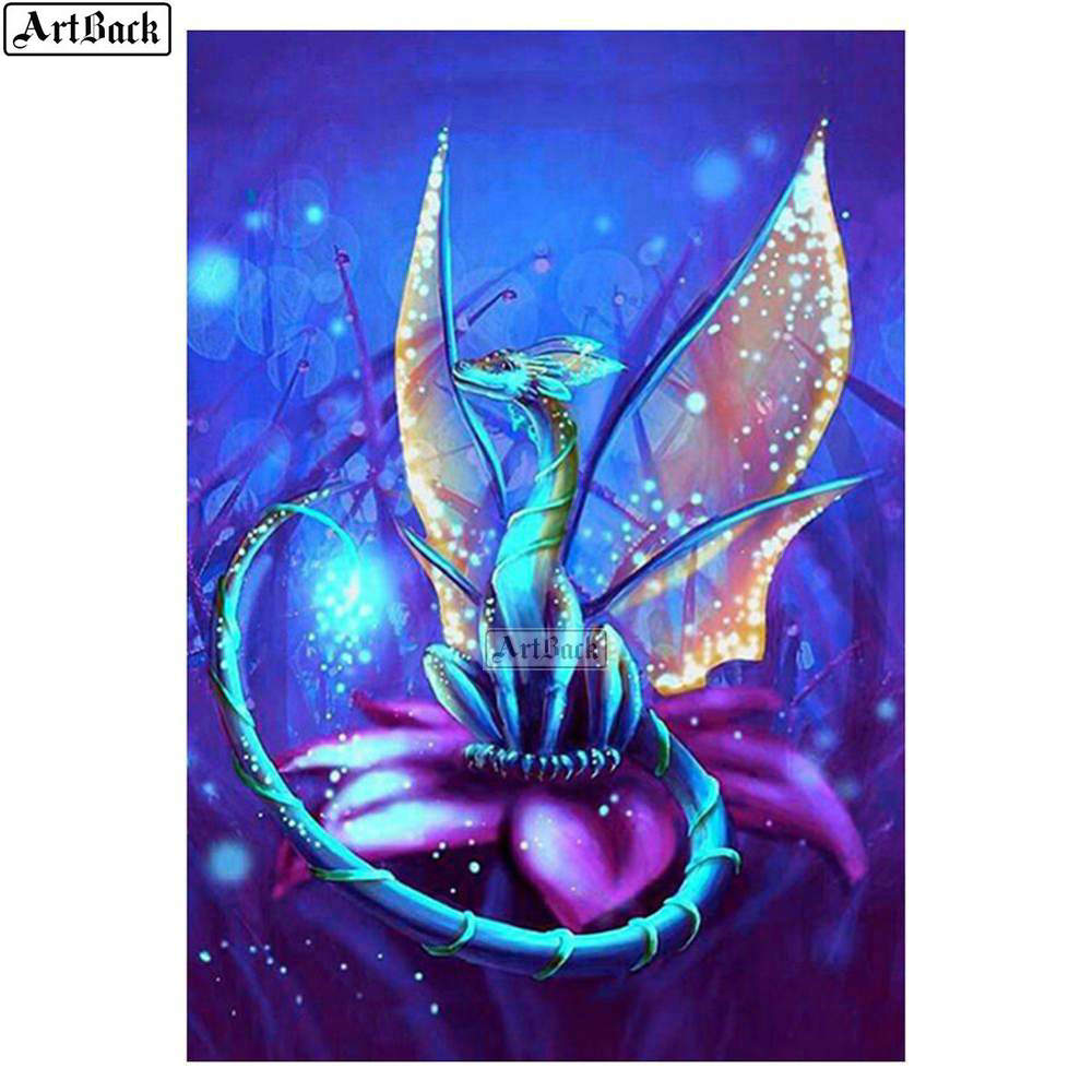 5D DIY Full Drill Diamond Painting Wing Art Pattern Embroidery for Room Decor