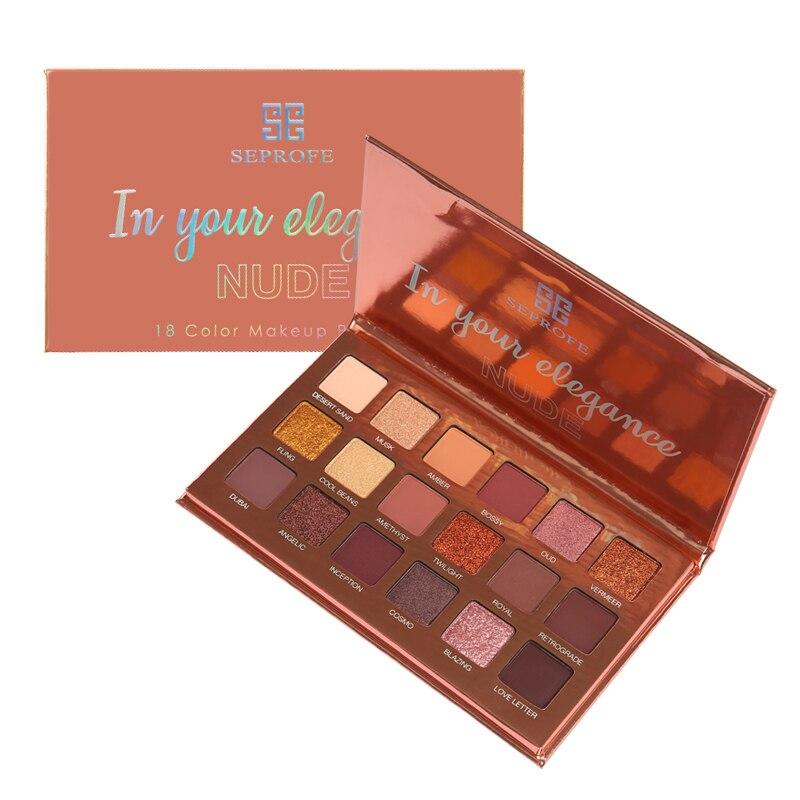 18 Maquiagem cores Da Paleta Da Sombra de Maquiagem Nude Shimmer Matte Eyeshadow Diamante Brilho Paleta Pigmentada Sombra maquillage