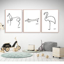 Pablo Picasso The Dog Print Canvas Abstract Animals Minimalist Wall Art Kids Room Bar Office, Home Decor, frame not included цена в Москве и Питере