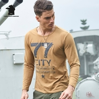 Brand New Men S T Shirt Long Sleeve Spring Fashion Printing Military 100 Cotton Casual T