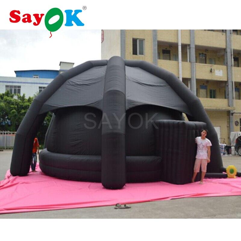 Écran de Projection gonflable de tente de dôme de planétarium de diamètre de 5 m avec la couverture pour l'événement d'affichage de Science d'enseignement d'astronomie d'école