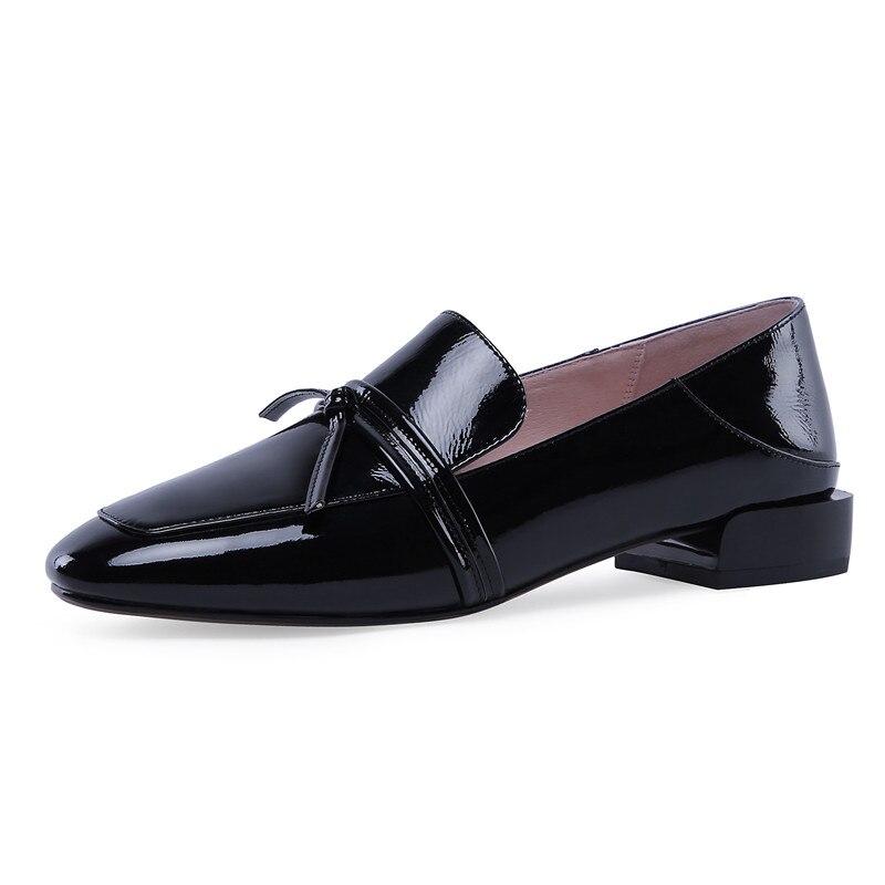 Zapatos planos de cuero real de mujer zapatos planos de mujer de talla grande 42 mocasines negros slip ons zapatos blandos de mujer blancos mocasines de nuevo-in Zapatos planos de mujer from zapatos    3