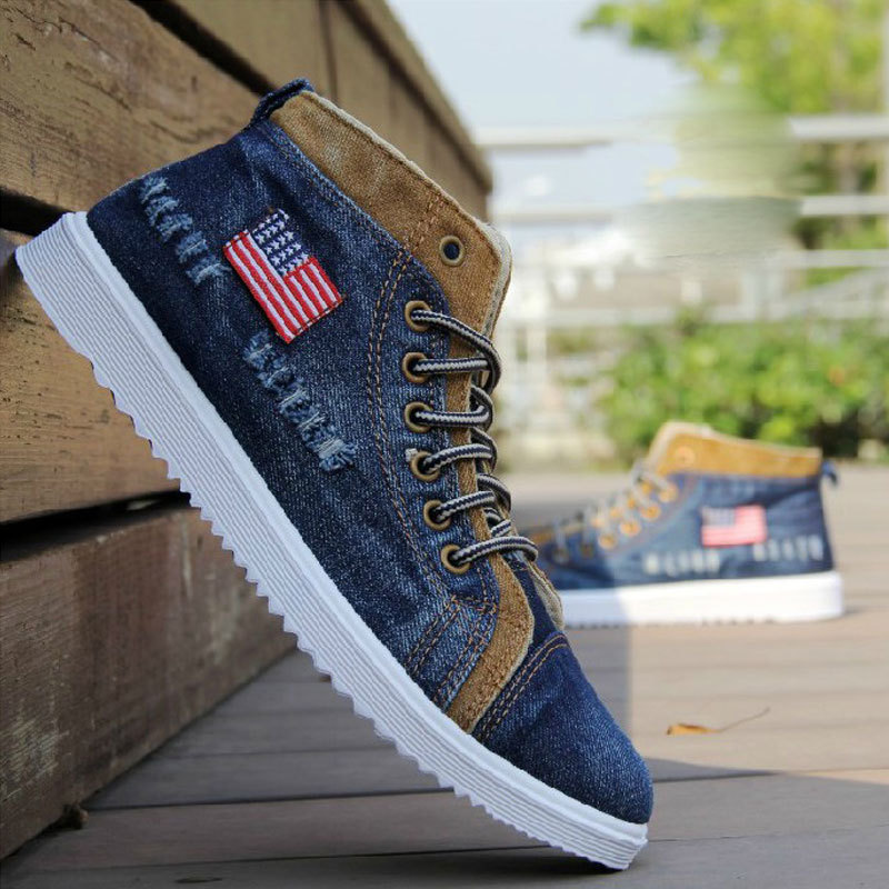 Sweat-Absorbant  men casual shoes Canvas mens sneakers Breathable man