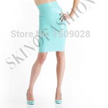 Латексная резиновая юбка с высокой талией(без верха