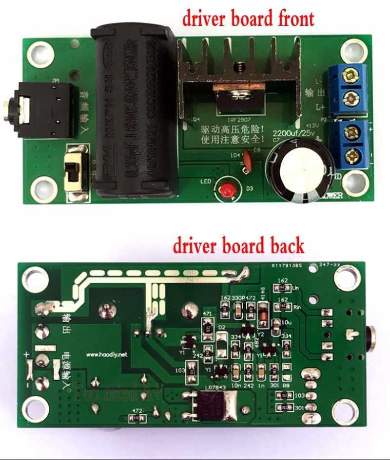 DC 12v Booster high voltage generator plasma music arc speaker ZVS Tesla  coil kit module